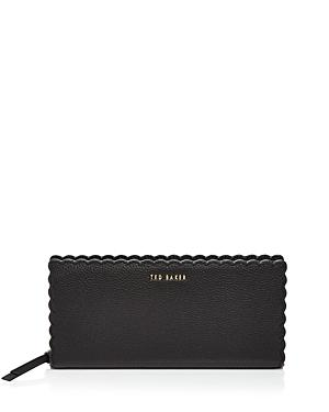 Ted Baker Vivecka Scalloped Leather Matinee Wallet