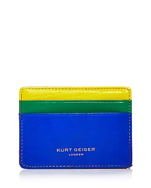 Kurt Geiger London Color Block Leather Card Holder