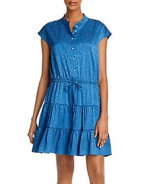 Rebecca Minkoff Ollie Printed Tie-waist Mini Dress