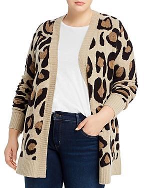 Aqua Curve Leopard-print Open Cardigan - 100% Exclusive