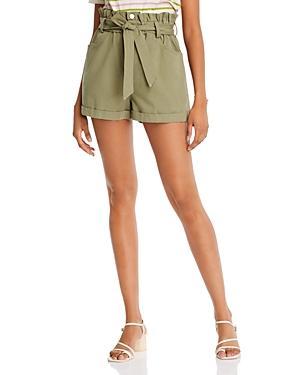 Aqua Cotton Paperbag-waist Shorts - 100% Exclusive
