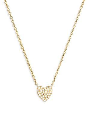 Zoe Lev 14k Yellow Gold Diamond Heart Pendant Necklace, 18