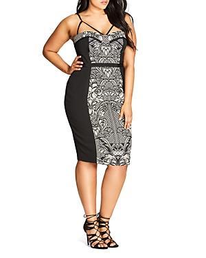 City Chic Strappy Printed Dress