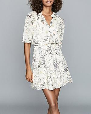 Reiss Naomi Floral Print Shirt Dress