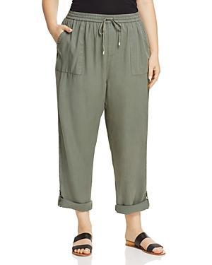 B Collection By Bobeau Curvy Magnolia Roll Tab Crop Pants
