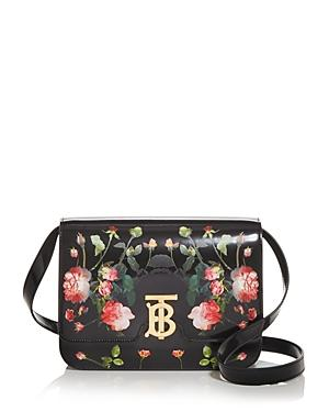 Burberry Medium Floral Print Leather Shoulder Bag