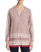 Scotch & Soda Tasseled Scarf Print Tunic