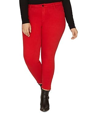 Sanctuary Curve Social Standard Skinny Ankle Jeans In Street Red