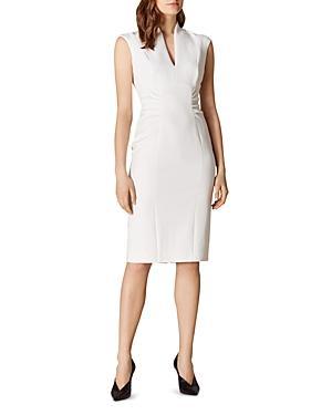 Karen Millen Gathered-waist Sheath Dress