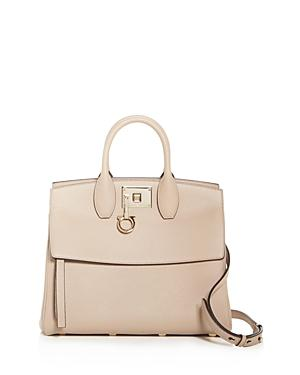 Salvatore Ferragamo Studio Grainy Leather Tote