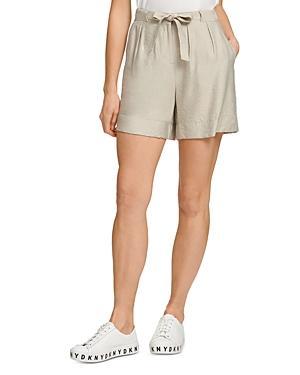 Dkny Tie Waist Shorts