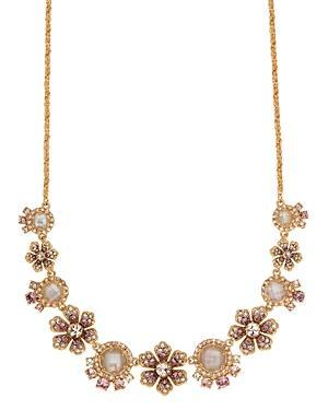Marchesa Floral Statement Necklace, 16
