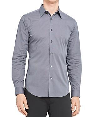 Theory Sylvain Micro Print Button Down Shirt