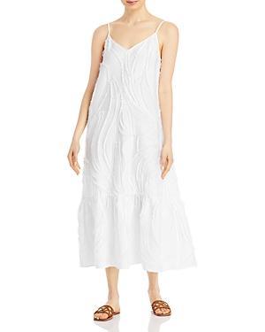 Lafayette 148 New York Josephine Frayed Embellished Twill Dress