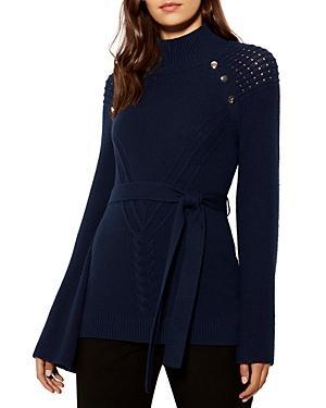 Karen Millen Belted Bell-sleeve Sweater