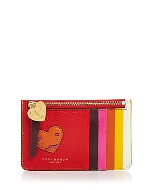 Tory Burch Perry Patchwork Hearts Card Case