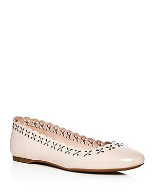 Michael Michael Kors Thalia Leather Perforated Ballet Flats
