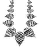 Lagos Sterling Silver Bold Caviar Graduated Teardrop Collar Necklace, 18