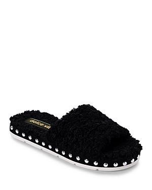 Dolce Vita Women's Mochi Studded Plush Slippers