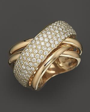 Pave Diamond Ring In 14k Yellow Gold, 2.25 Ct. T.w.