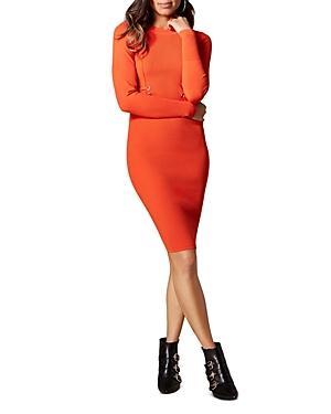 Karen Millen Lace-up Rib-knit Dress