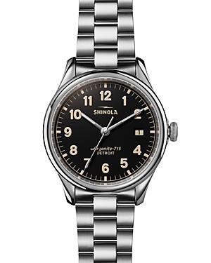 Shinola The Vinton Black Dial Watch, 38mm