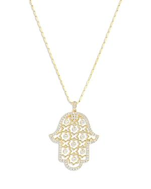 Bloomingdale's Diamond Hamsa Hand Pendant Necklace In 14k Yellow Gold, 0.85 Ct. T.w, 18 - 100% Exclusive