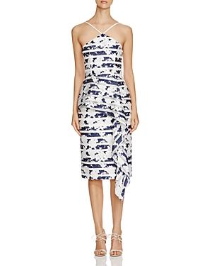 Black Halo Blythe Printed Midi Dress - 100% Bloomingdale's Exclusive
