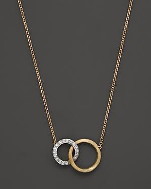 Marco Bicego Diamond Jaipur Link Pendant Necklace, 16.5