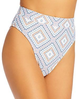 Nicholas Savita Printed High-waist Swim Bottom