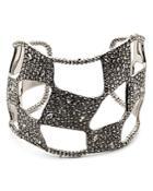 Alexis Bittar Modern Georgian Pave Checkerboard Cuff Bracelet