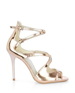 Karen Millen Metallic Strappy High Heel Sandals