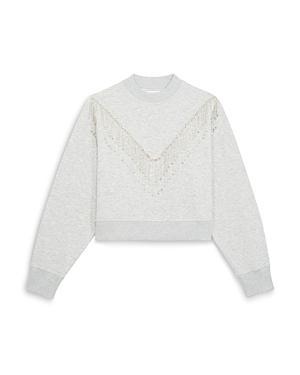 The Kooples Rhinestone Fringe Sweatshirt