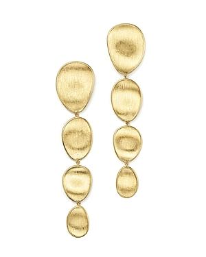 Marco Bicego 18k Yellow Gold Engraved Drop Earrings