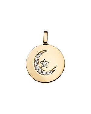 Charmbar Reversible Crescent Moon Charm In Sterling Silver Or 14k Gold-plated Sterling Silver