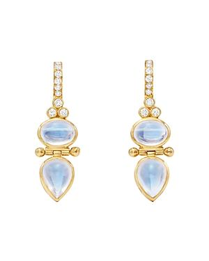 Temple St. Clair 18k Yellow Gold Moonstone & Diamond Drop Earrings