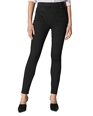 Karen Millen Button Detail Skinny Jeans In Black