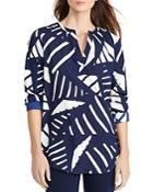 Lauren Ralph Lauren Graphic Print Crepe Tunic