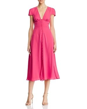 Fame And Partners The Poplar Short-sleeve Button-front Dress