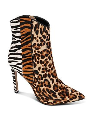 Kenneth Cole Women's Riley Mixed Animal-print Western Booties