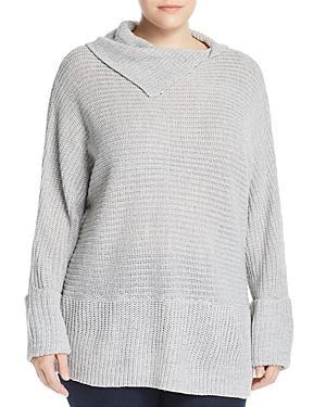 Alison Andrews Plus Split Cowl-neck Tunic Sweater