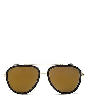 Gucci Mirrored Aviator Sunglasses, 57mm