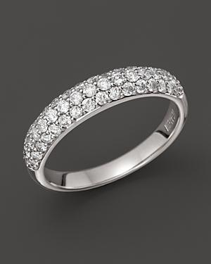 Diamond Band Set In 14k White Gold, 0.75 Ct. T.w