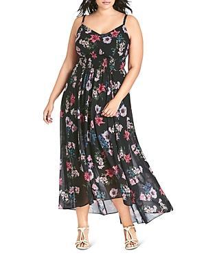 City Chic Plus Lily Floral Maxi Dress