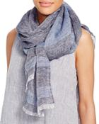 Eileen Fisher Linen Stripe Scarf