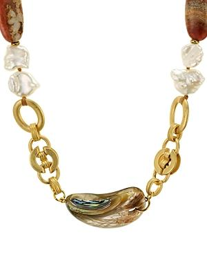 Chan Luu Abalone Chain Necklace, 16