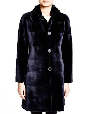 Maximilian Sheared Mink Reversible Coat With Chinchilla Collar - 100% Exclusive