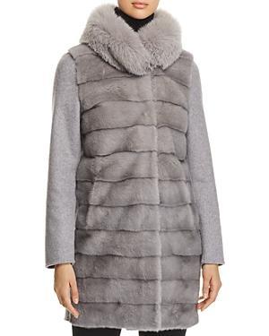 Herno Fur & Cashmere Coat