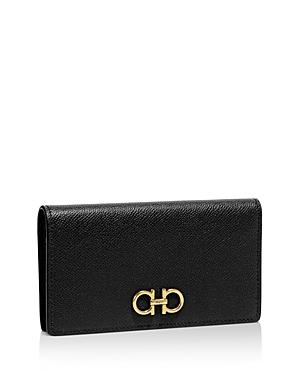 Salvatore Ferragamo Score Mini Leather Continental Wallet
