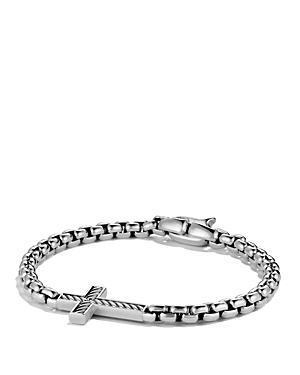 David Yurman Pave Cross Bracelet With Black Diamonds